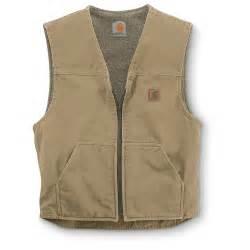 Carhartt Rugged Vest carhartt s sandstone rugged sherpa lined vest 156260 vests at sportsman s guide
