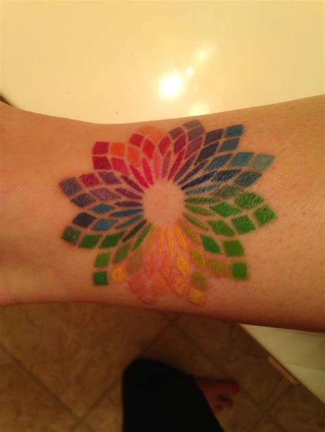 color wheel tattoo 16 best color wheel tattoos images on color