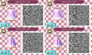 animal crossing new leaf pink dresses qr codes