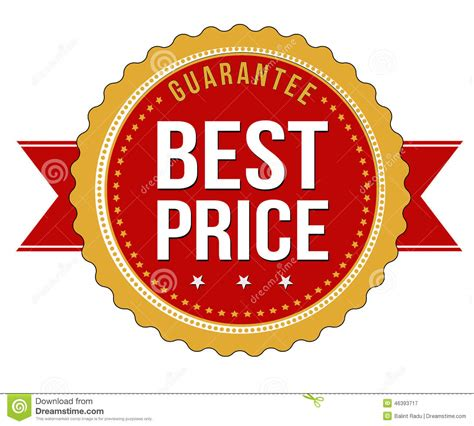 best price for service best price guarantee badge stock vector image of icon