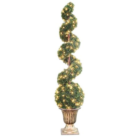lighted spiral topiary tree national tree company 66 in clear spiral tree with ball