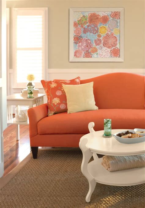 Sofa Orange Color by Sofa Orange Color Orange Sofas Home Design Ideas And