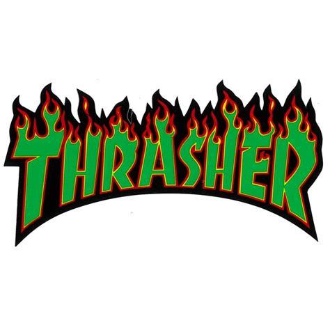 thrasher thrasher flames sticker thrasher from native