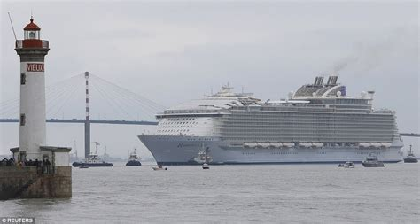 ship bigger than titanic world s largest cruise ship harmony of the seas leaves