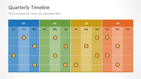 3 month timeline template colorful quarterly timeline slide design with months