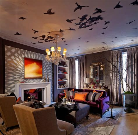 halloween decorating ideas for living room trees and witch top halloween decoration ideas home and decoration