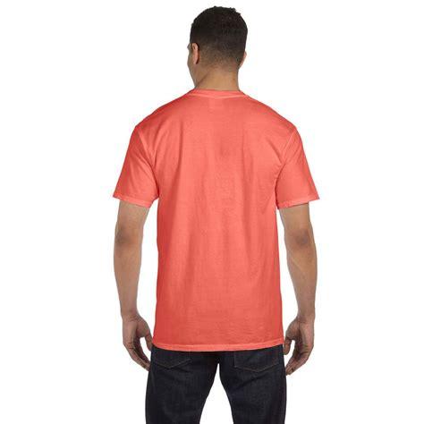 bright salmon comfort colors comfort colors men s bright salmon 6 1 oz pocket t shirt