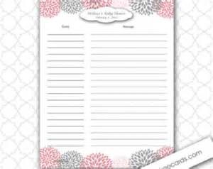 Baby Shower Sign In Sheet Template by Items Similar To Baby Shower Guest Sign In And Baby Advice