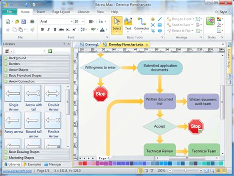 simple flowchart software easy flowchart software to benefit process