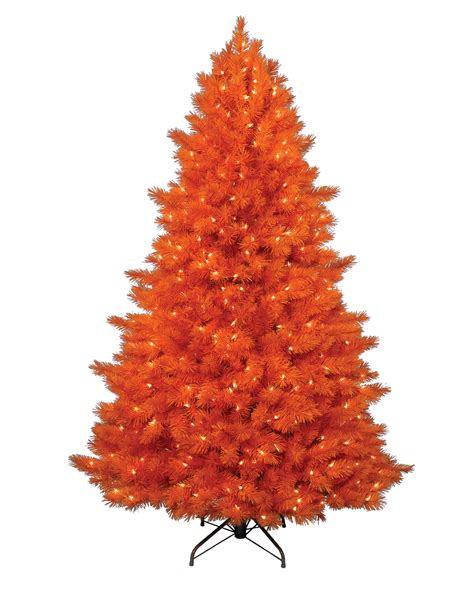 orange christmas tree