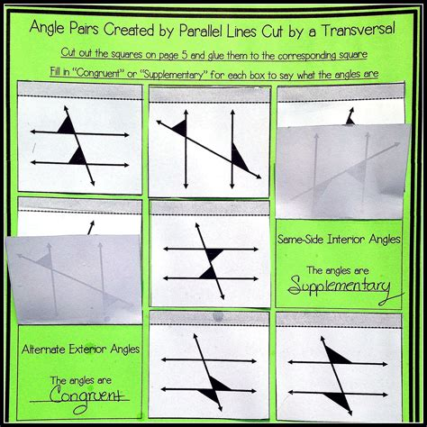 Angles In Transversal Worksheet