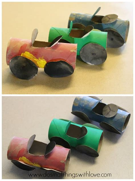 Toilet Paper Roll Car Craft - 15 toilet paper roll crafts for diy ready