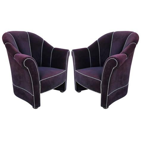 purple velvet chair purple velvet josef hoffmann lounge chairs at 1stdibs