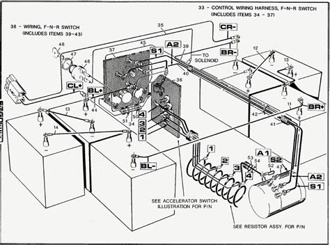 wiring diagram for golf cart batteries free