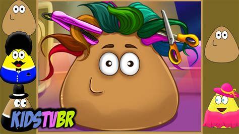 real haircuts games pou pou real haircuts funny game for kids 2015 kids tv br