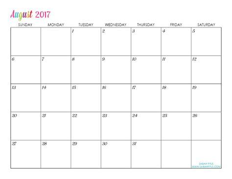 Printable Editable Calendars 2017 | custom editable free printable 2017 calendars sarah titus