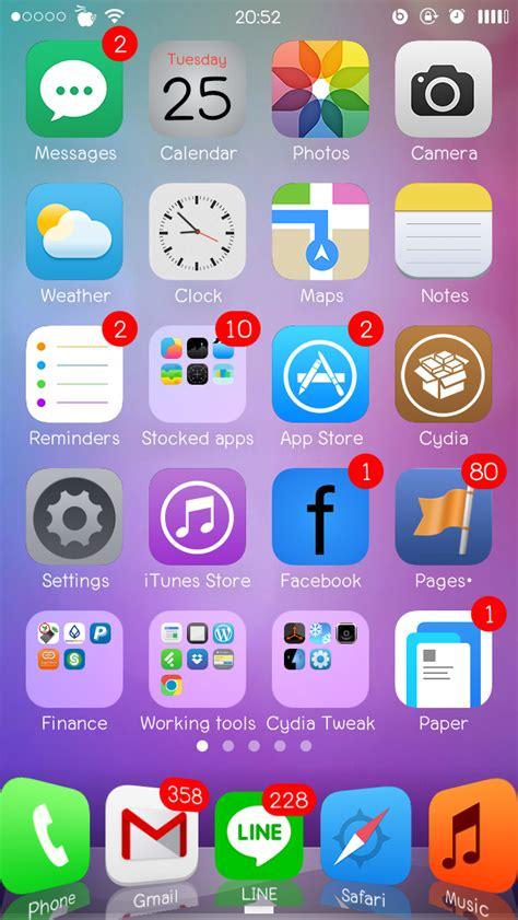 whatsapp winterboard themes lucerna hd flat ios 7 และ ios 8 concept theme สำหร บ