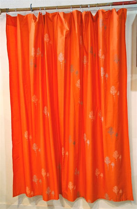 bright orange shower curtain unavailable listing on etsy