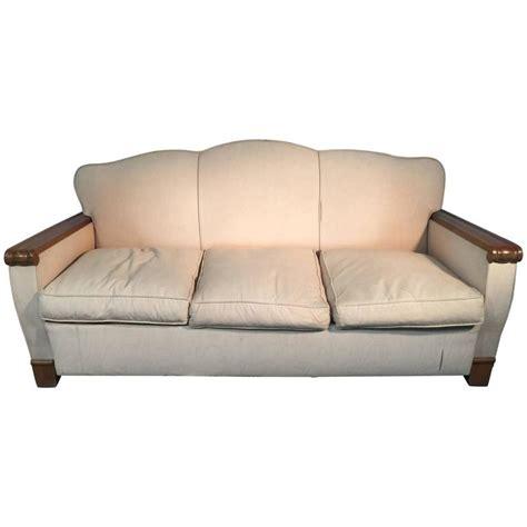 art deco sofa for sale gaston poisson art deco blond mahogany sofa for sale at