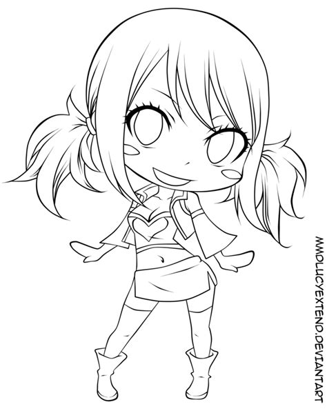 Fairy Tail Coloring Pages Chibi | fairy tail lucy chibi coloring pages coloring pages