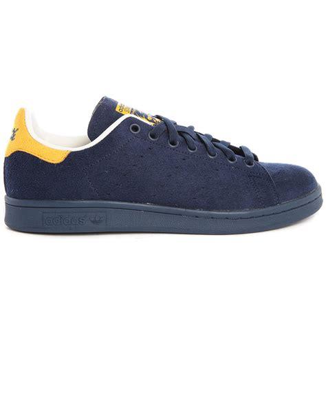 Sepatu Sneakers Adidas Originals Stan Smith Blue adidas originals stan smith navy suede sneakers in blue navy lyst