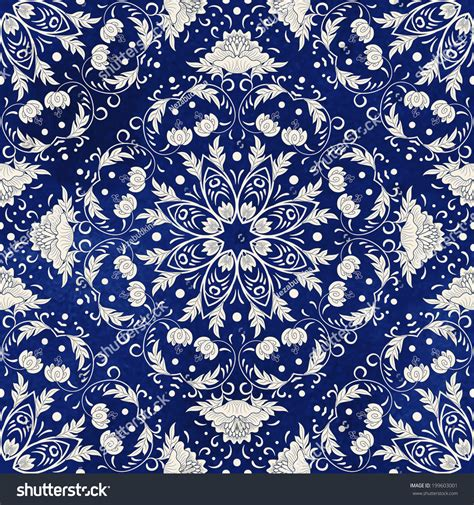 china blue pattern vector seamless vector background beautiful floral square stock