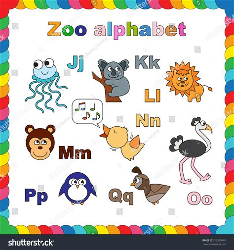 the potty zoo the funniest abc book books complete animal zoo alphabet stock vector