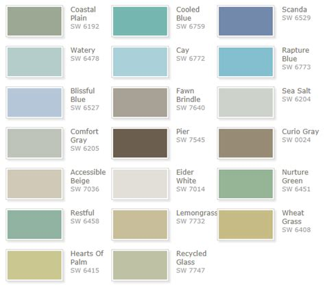 paint color wheel sherwin williams superb coastal paint colors 2 sherwin williams coastal