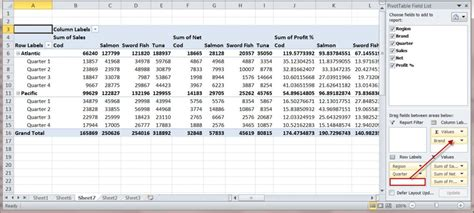 how to create a ms excel pivot table an introduction