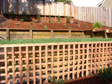 pressure treated wood retaining wall