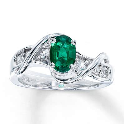 lab created emerald ring lab created sapphires