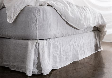 Linen Bed Sheets by Linen Fitted Sheet 100 Luxuriously Soft Linen