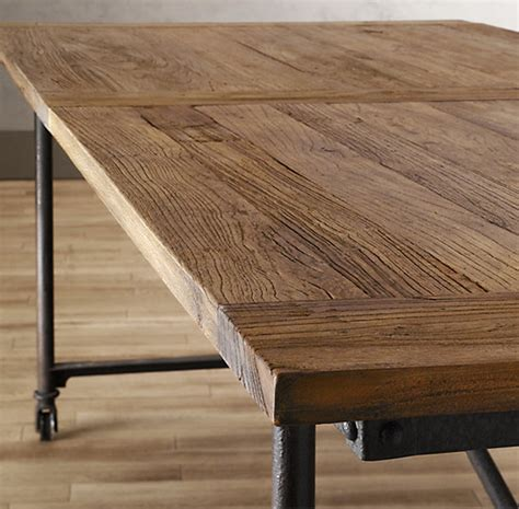 restoration hardware farm table rustic industrial a new style of farmhouse table
