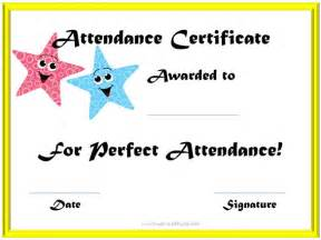 editable template for students attendance certificate templates 23 free word pdf
