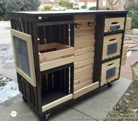 diy kitchen island made from pallet wood house pallet kitchen islands buffet tables pallet wood projects