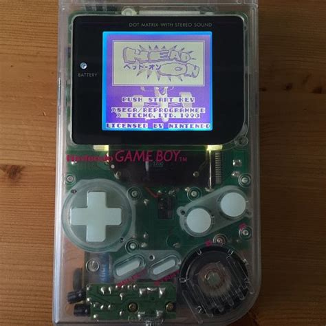 mod gameboy backlight nintendo game boy backlight mod with glow in the dark