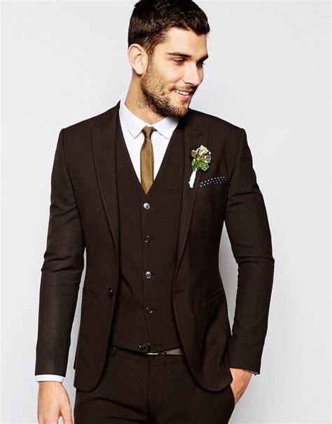 Flat Bowtie Abu Laris aliexpress buy center vent groomsmen shawl lapel groom tuxedos brown suits
