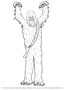 Learn How To Draw Chewbacca From Star Wars Step By  sketch template