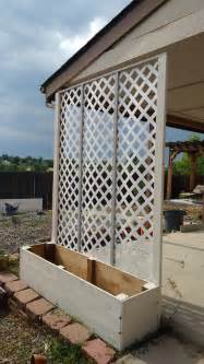 lattice privacy screen planter my projects planters screens and gardens