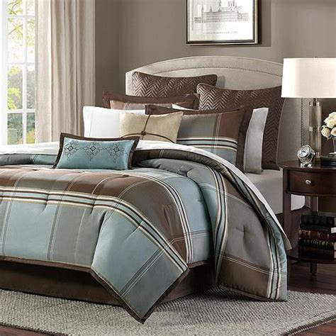 tan and blue bedroom blue and brown bedspread get the daniel 8 piece brown