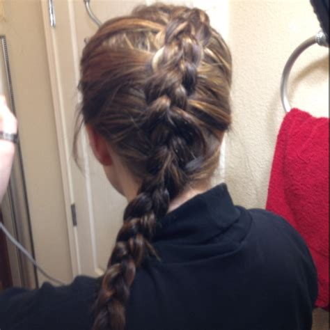 college softball hairstyles day twenty three katniss everdeens braid from the hunger