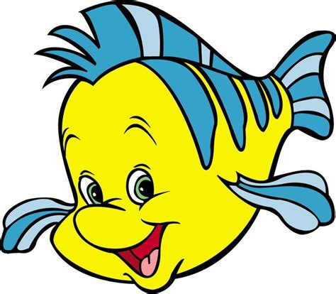 little mermaid disney cartoon fishes hd wallpaper pictures of flounder from the little mermaid 3d wallpaper
