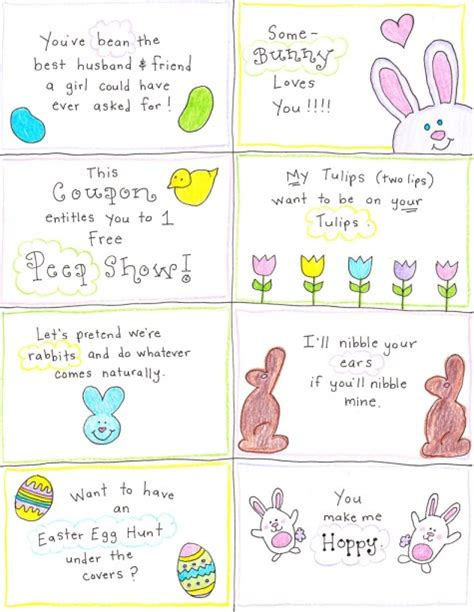 printable easter card inserts an easter basket for the happy hubby free printables