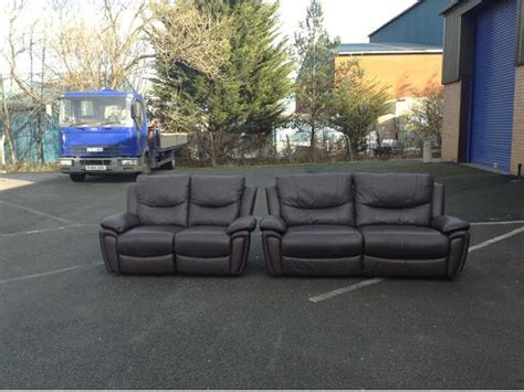 scs 2 seater sofas scs sienna brown leather manual recliner 3 2 seater sofas