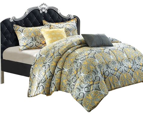 grey and gold bedding radiance antique scroll gold grey king 5 piece comforter