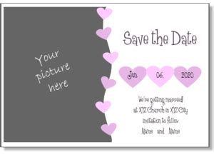 Publisher Save The Date Templates by Wedding Invitation Maker Printable Wedding Invitation