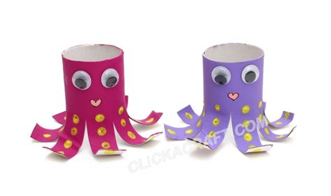 octopus toilet paper roll craft cardboard toilet paper roll octopus friends project