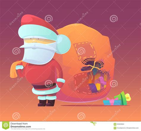 News Happy Holidays From Ebelle5 The Bag by Vector Illustration Of Santa Claus With Gifts Stock Vector