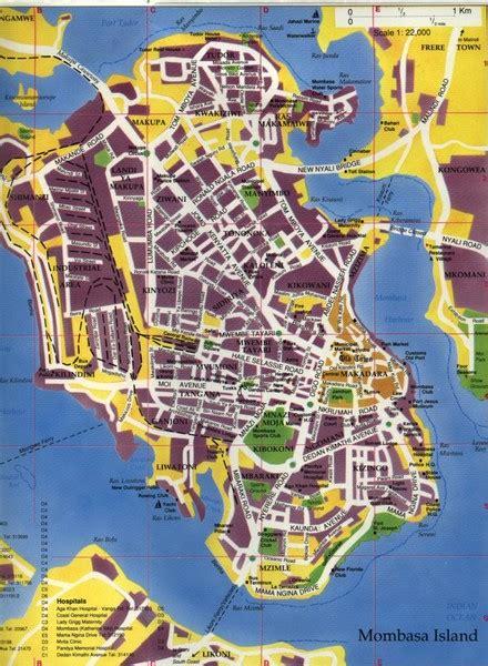mombasa city map mombasa kenya mappery