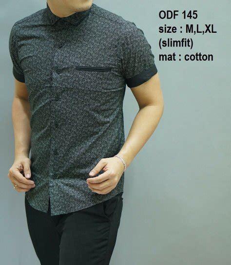 Kemeja Fashion Pria Slimfit Odf 105 jual beli baju kemeja batik slimfit pria odf145